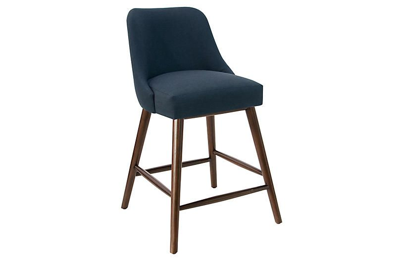 Barron Counter Stool Navy In 2020 Black Counter Stools Counter Stools Black Bar Stools