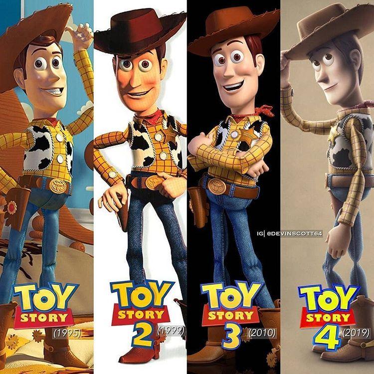 Woody And Buzz Through The Time Toy Story Movie Disney Toys Disney Cartoons
