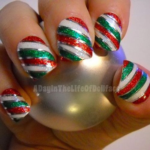 Diy christmas nail art 50 christmas nail designs you can do yourself solutioingenieria Image collections