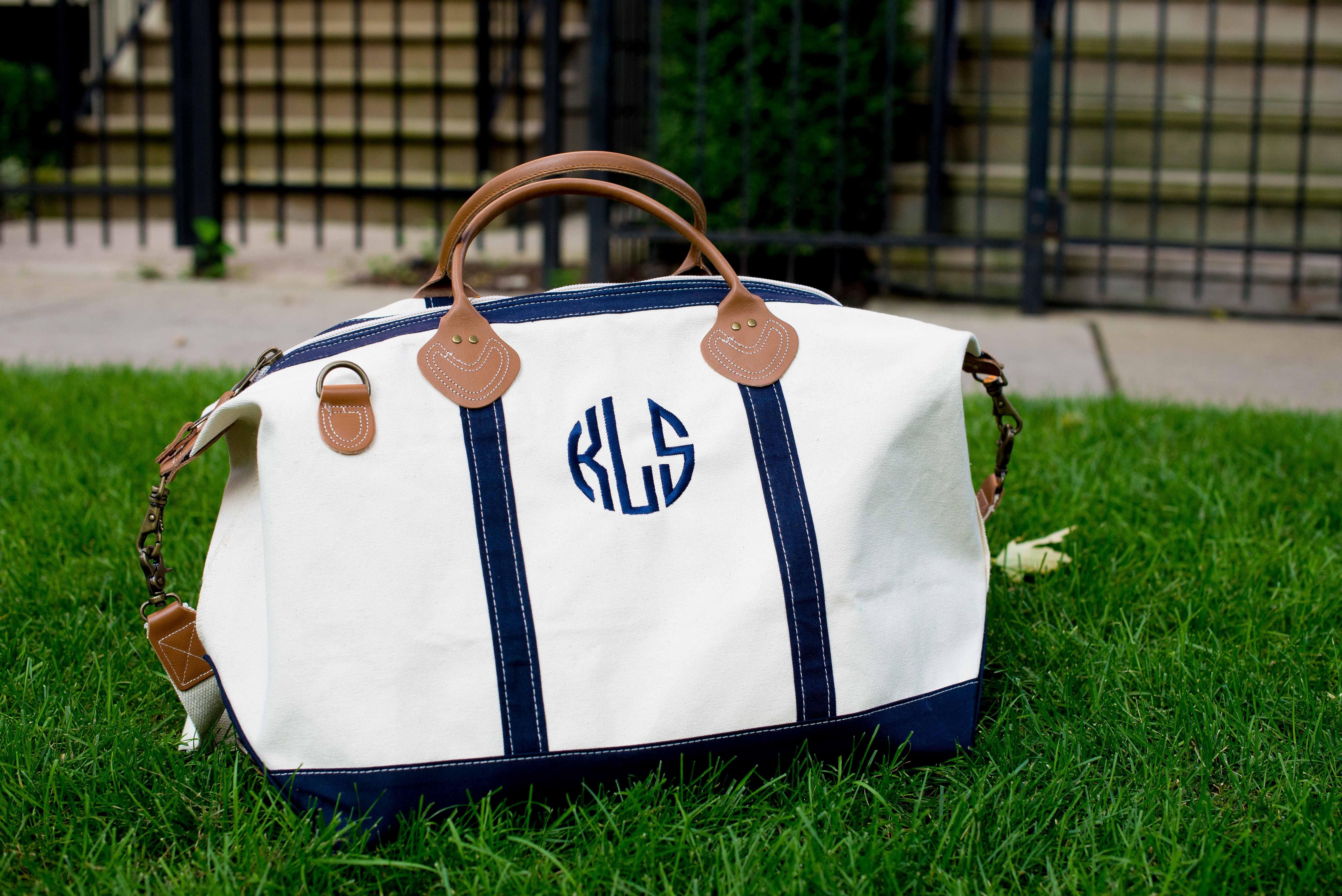 The Monogrammed Duffle Bag