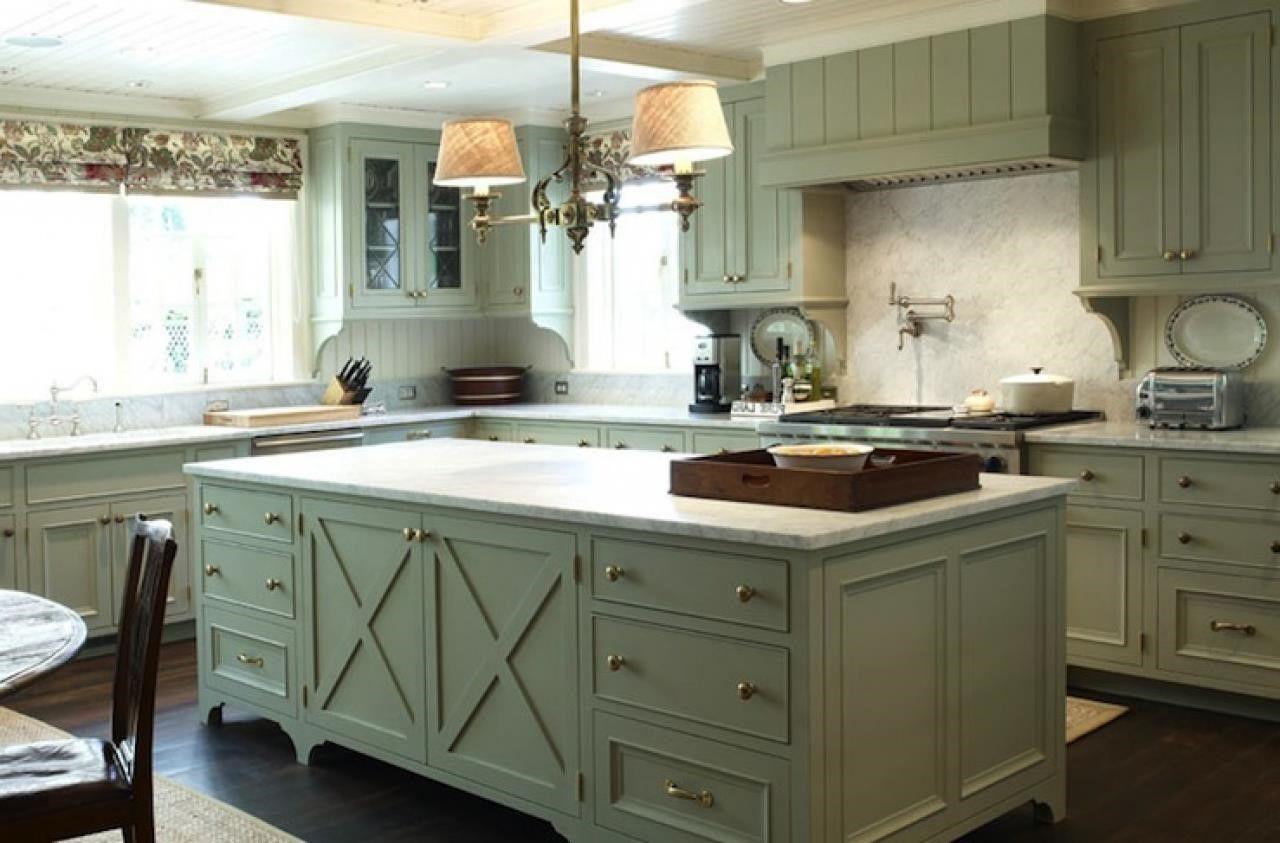 olive green painted kitchen Green kitchen