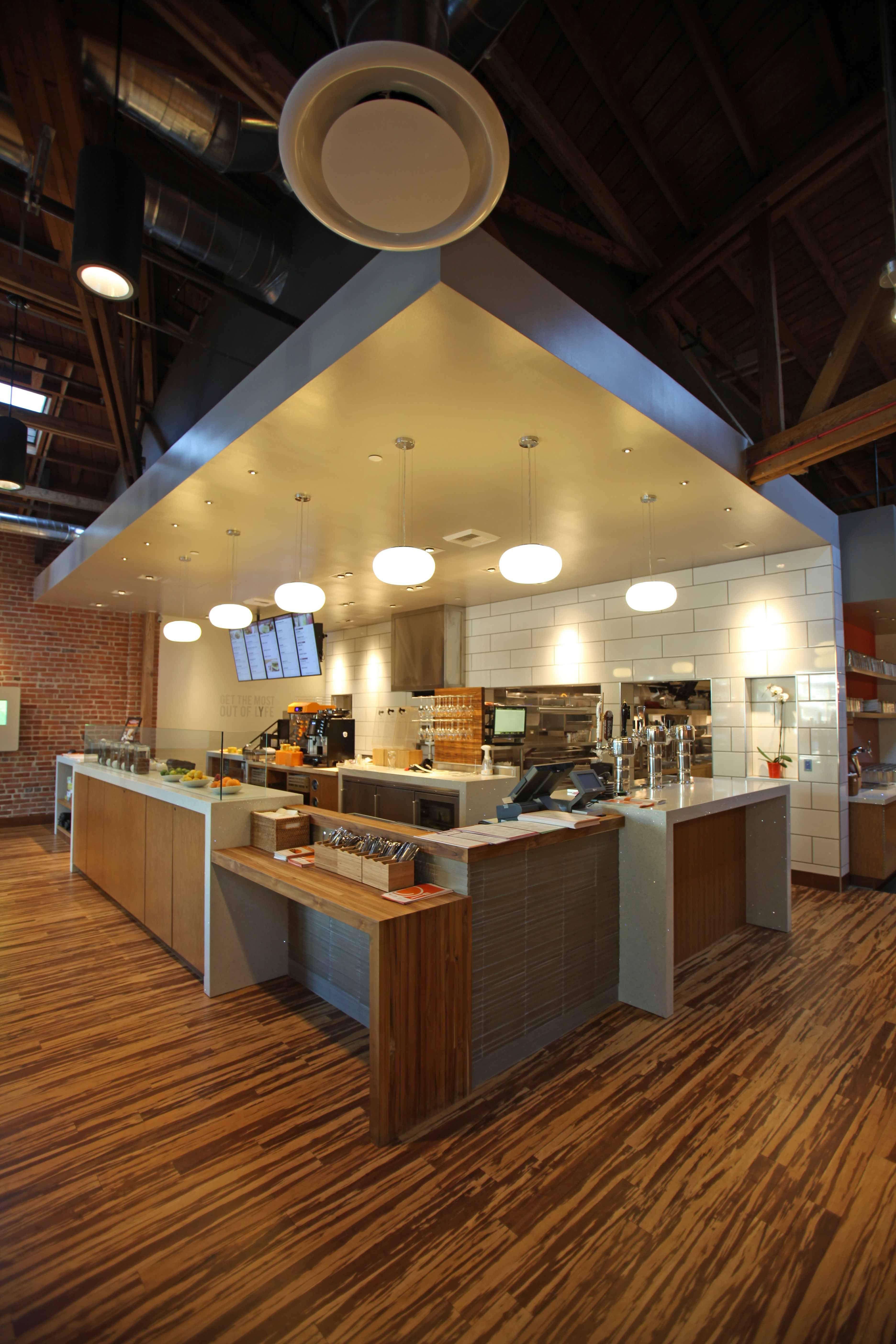 Best Lyfe Kitchen Service Area Commercial Space Design 400 x 300