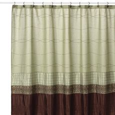 Romana Green 72 Inch W X 96 Inch L Extra Long Fabric Shower Curtain