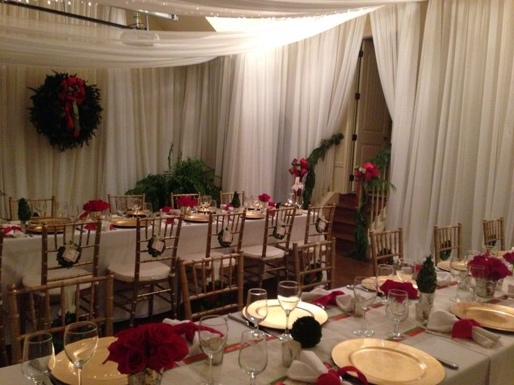 Using Garage For A Reception Christmas Party In Casual Backyard Wedding
