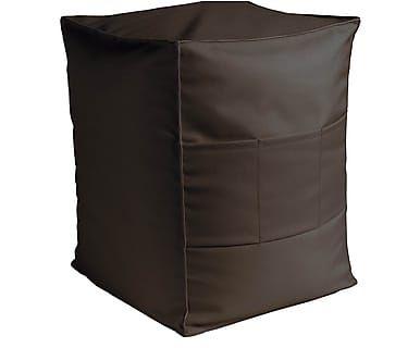 Pouf da esterno in poliestere marrone Nizza, 40x50x40 cm ...