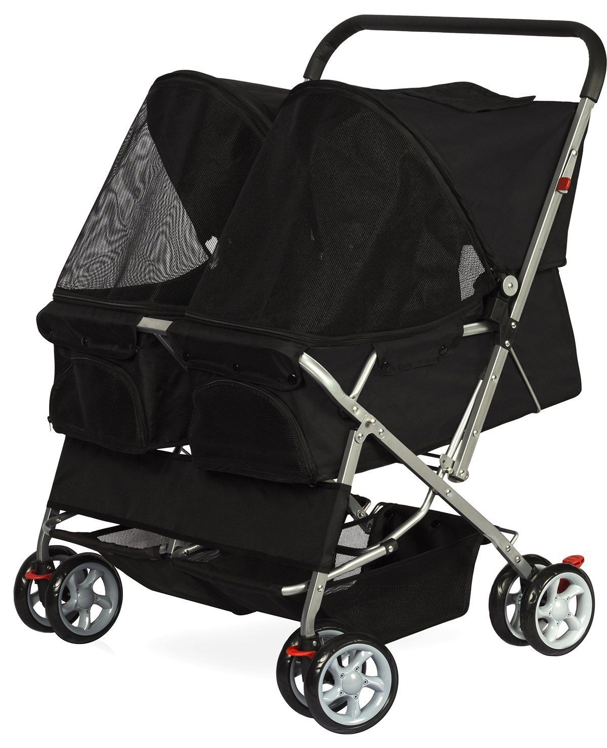OxGord cat Twin Double Stroller Cat / Dog Foldable 4Wheel