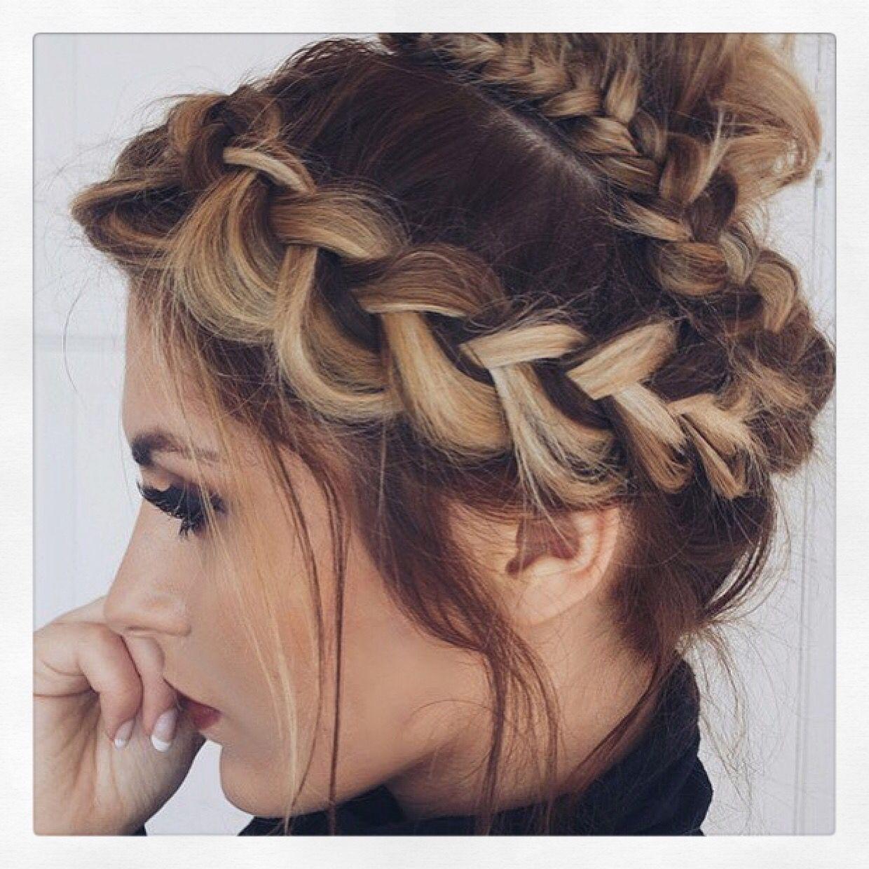 Braided Crown On Blogger Fashioninflux Hair By The Blow At Creator Hair 01142490989 Hair Styles Gorgeous Hair Long Hair Styles