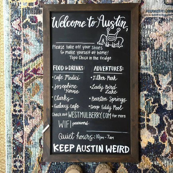 Chalkboard Welcome Signs