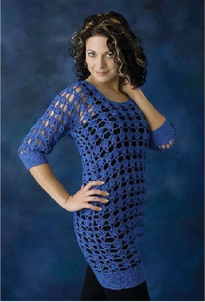 4bbce3dd8f177 Lacy Tunic by Mary Jane Hall - very easy pattern in Positively Crochet!