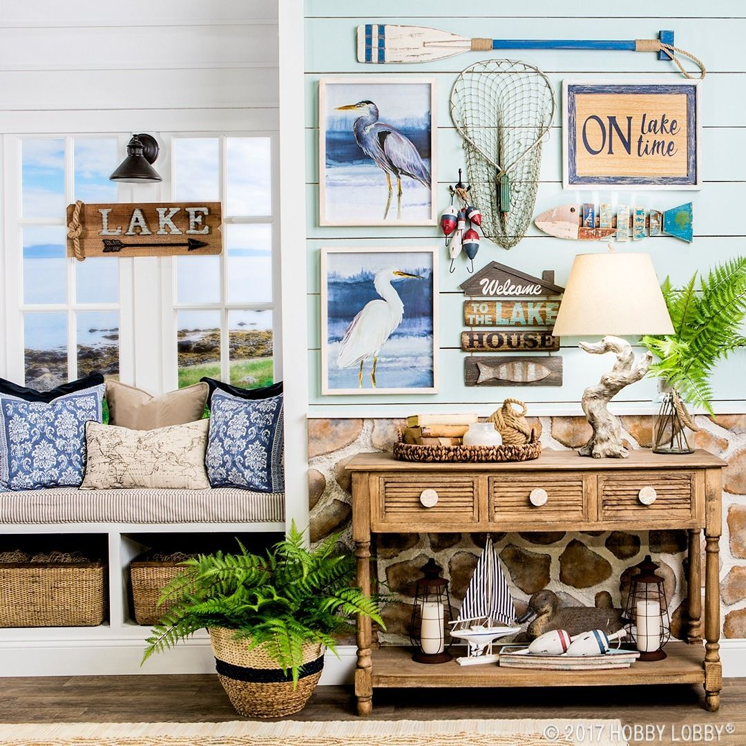 Channel summertime vibes with lake-themed decor!  Home decor