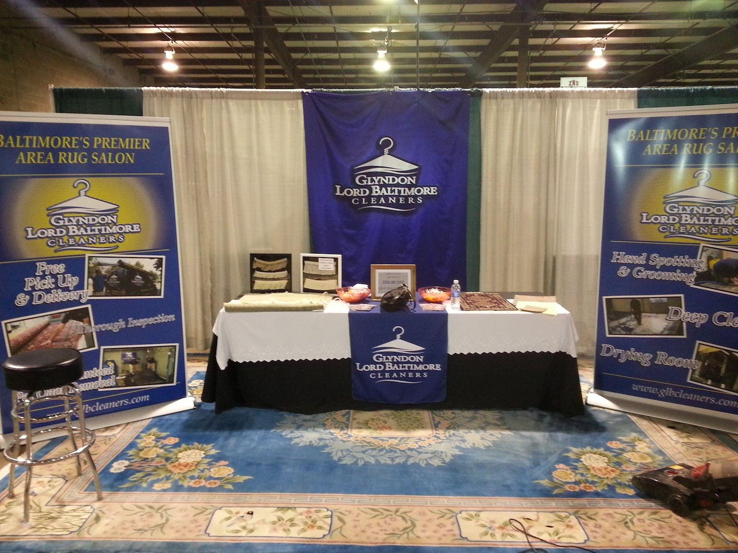 Take A Look At Our Booth From The Maryland Home And Garden Show!  #drycleaninggbaltimore #glyndonlordbaltimorecleaners  #arearugcleaningbaltimore