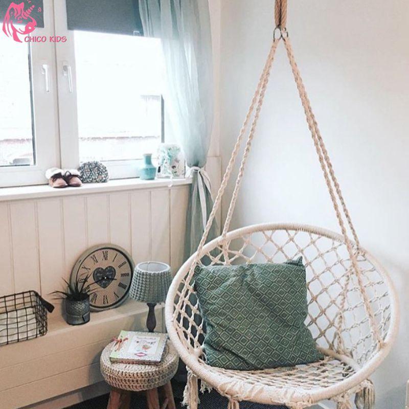 Perfect Indoor Hammock Chair For Bedroom Inside Nordic Style Round Hammock Outdoor  Indoor Dormitory Bedroom Children Swing Bed Kids Adult Swinging Hangin