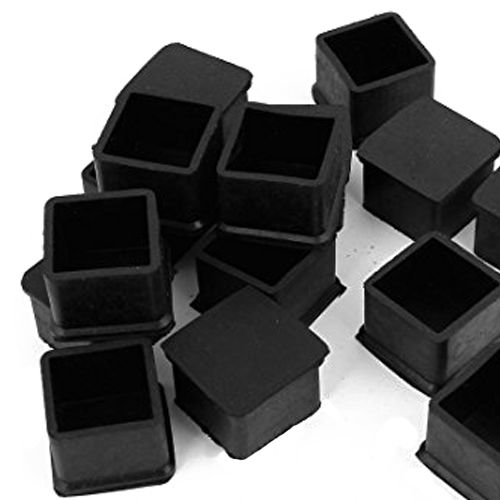 Explore Furniture Legs Black Rubber And More Hgho 15pcs 30mmx30mm Square Chair Foot Cover Leg Caps