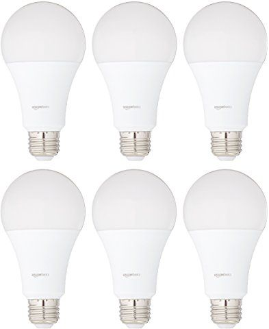 Amazonbasics 100 Watt Equivalent Daylight Non Dimmable A21 Led Light Bulb 6 Pack Led Light Bulb Led Replacement Bulbs Vanity Light Bulbs
