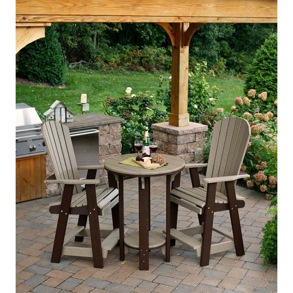 Amish Poly Wood Pub Table Pub Chair Bistro Set ($975) ❤ liked on Polyvore  featuring home, outdoors, patio furniture, outdoor patio sets, wood pub  chairs, ... - Amish Poly Wood Pub Table Pub Chair Bistro Set ($975) ❤ Liked On