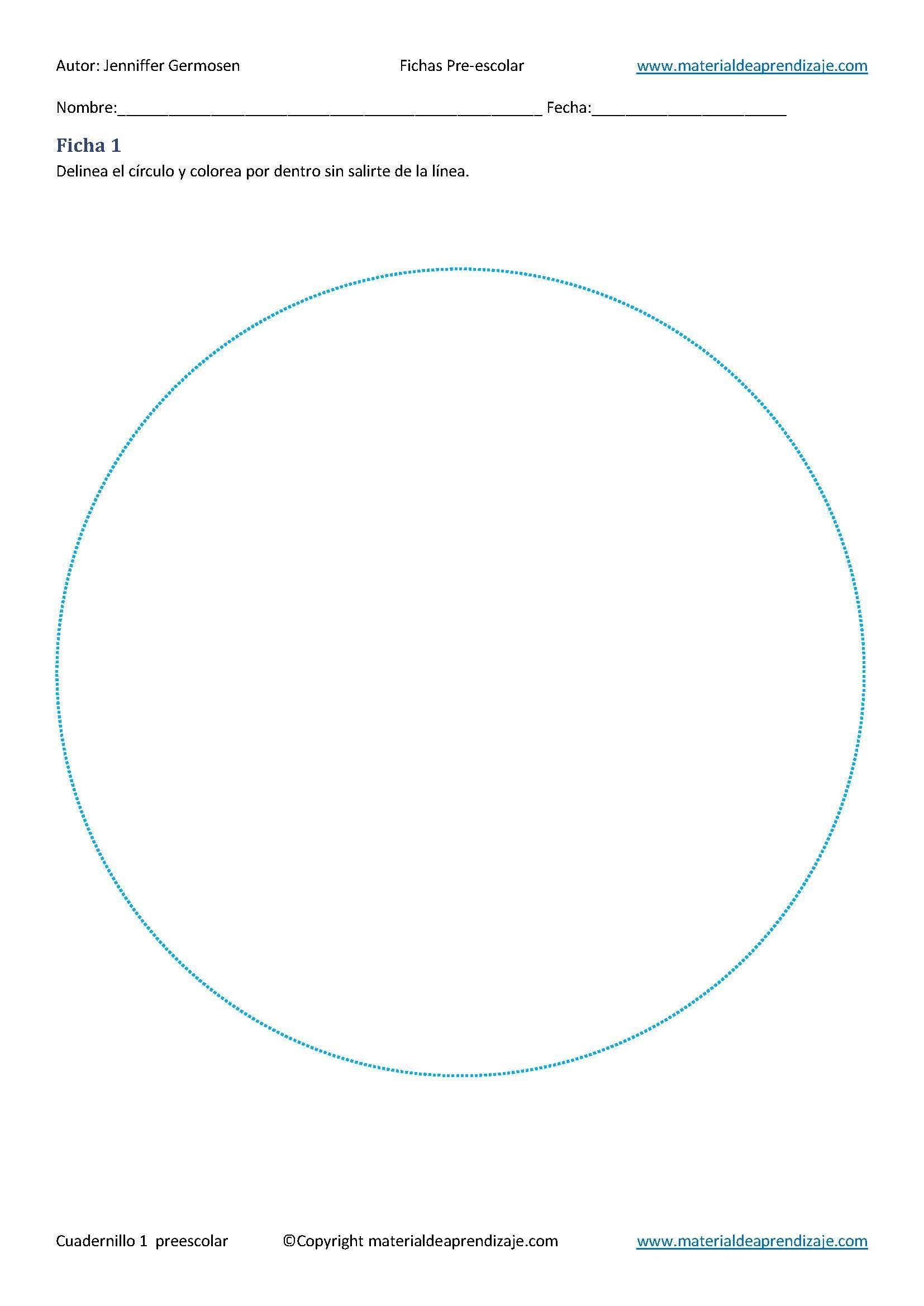 Delinea el círculo y colorea por dentro sin salirte de la línea ...