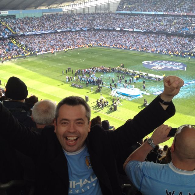 That's how good being a Manchester City fan feels :-) 13 May 2012, winning the Premier League title.