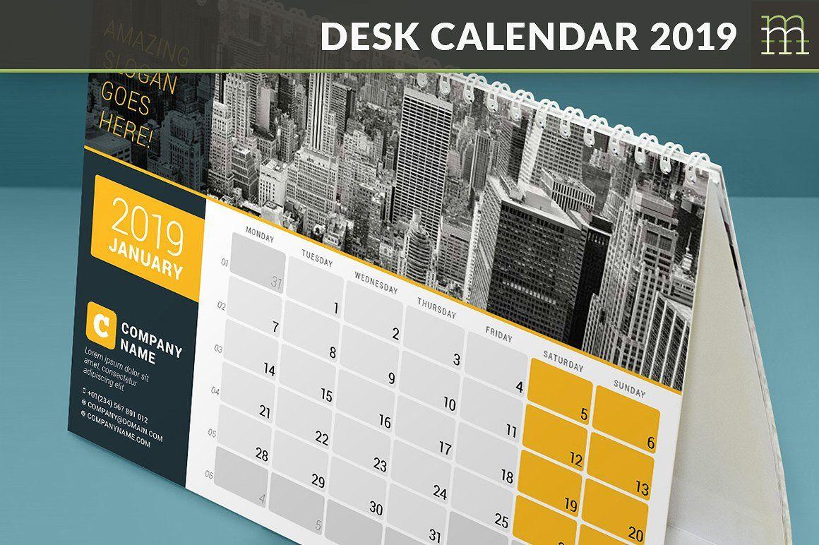 Desk Calendar 2019 Dc029 19 Desk Calendars Desk Calendar
