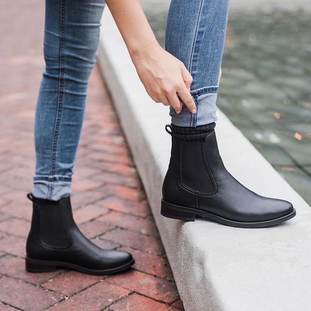 Black Vegan Duchess Chelsea Boot