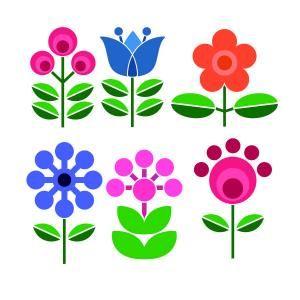 Scandinavian Flowers Pack Cuttable Design