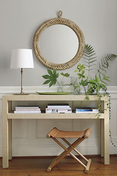 Light Wood Console Table Decorating Decor Round Foyer Table