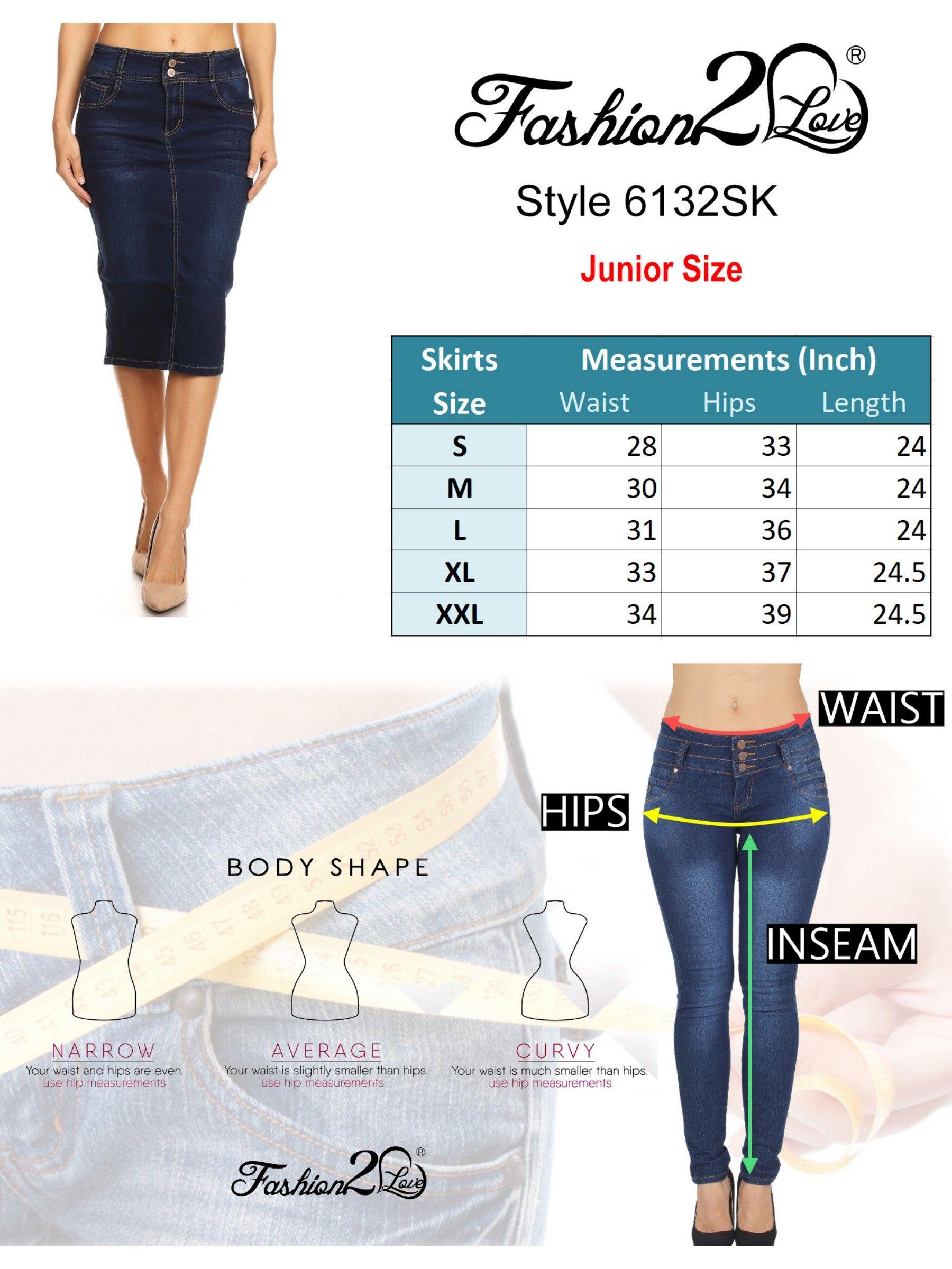 good order online nice shoes Women¡¯s Juniors Mid Waist Below Knee Length Denim Skirt in ...