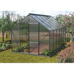 Photo of Vitavia Merkur 9900 greenhouse (3.83 x 2.57 x 2.3 m, color: anthracite, polycarbonate, 6 mm) Vitavia