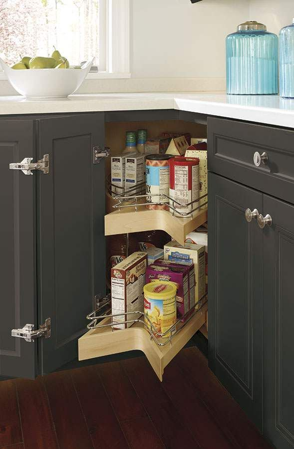 This Pull Out Lazy Susan Cabinet Provides Corner Cabinet Storage  Convenience   Only Better. Bringing Items Easily Within Your Reach.