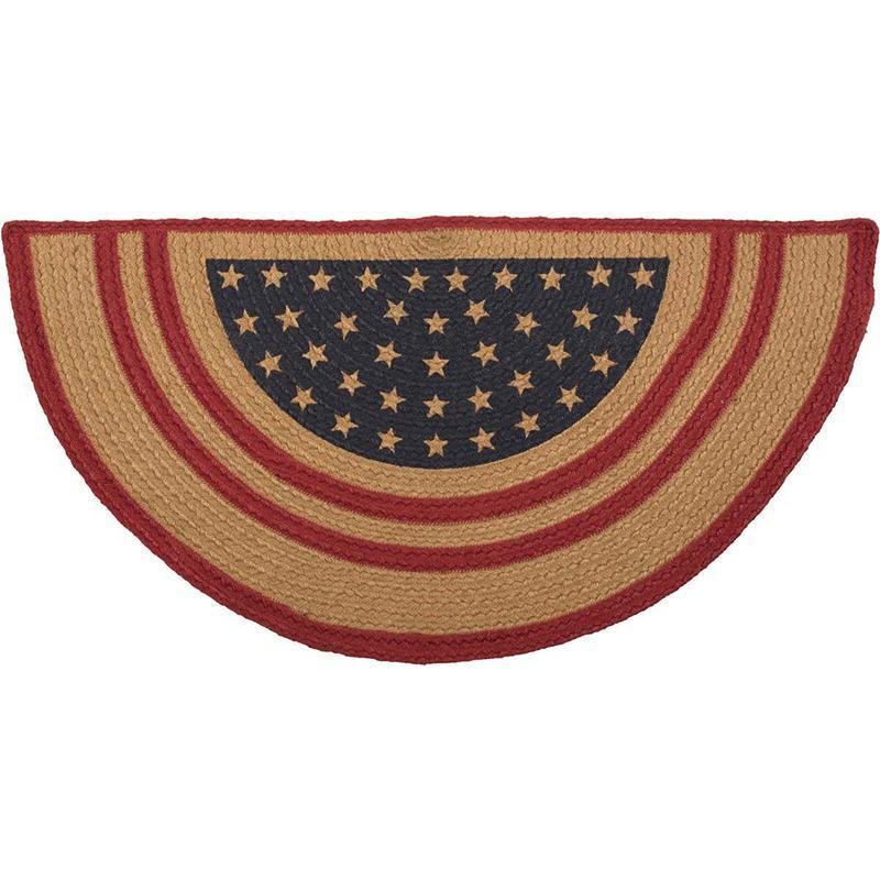Liberty Stars Red Flag Jute Half Circle Rug in 2018 Products