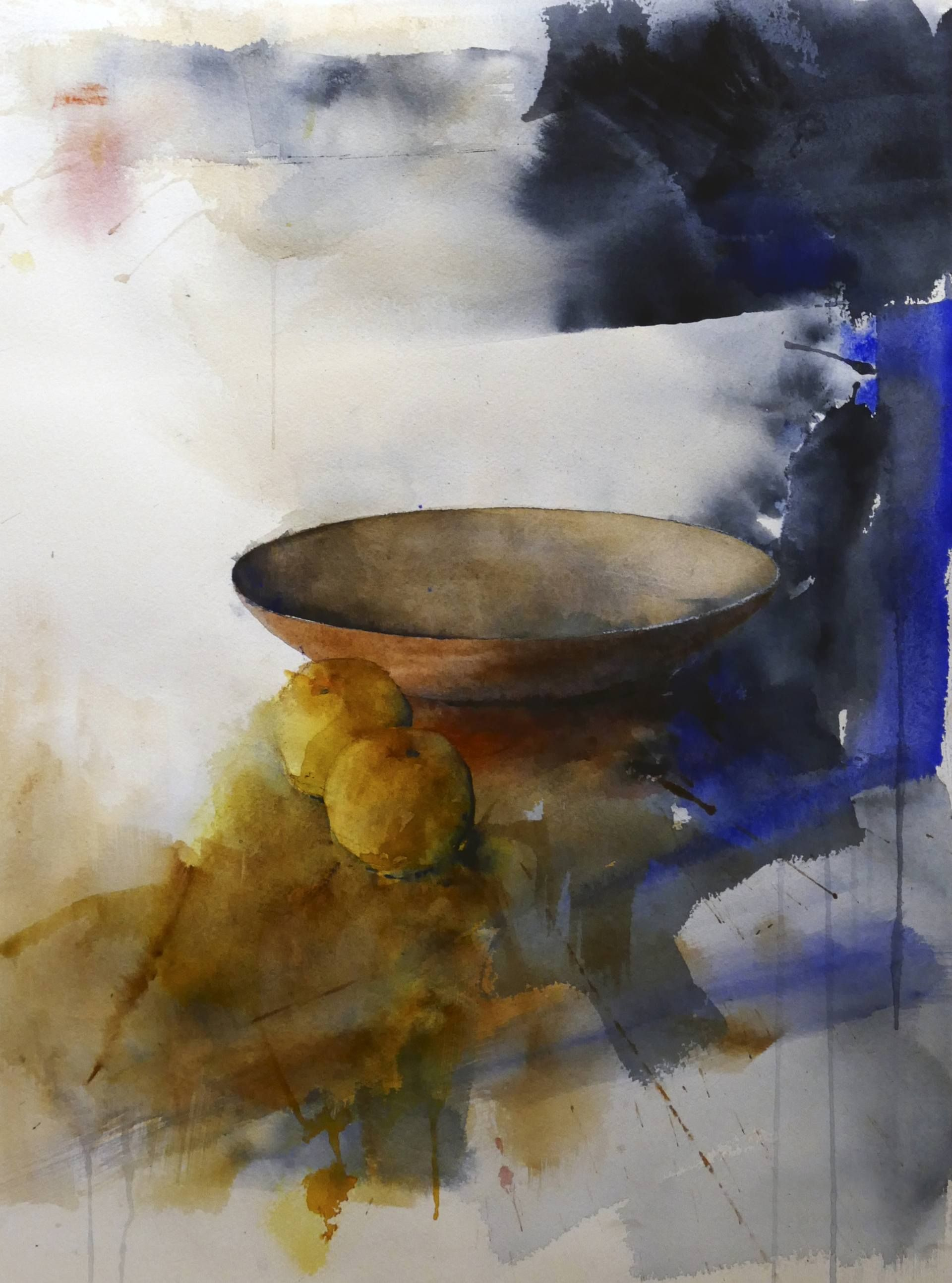 Bowl A Watercolor On Paper By Stig O Sivertsen From Norway It