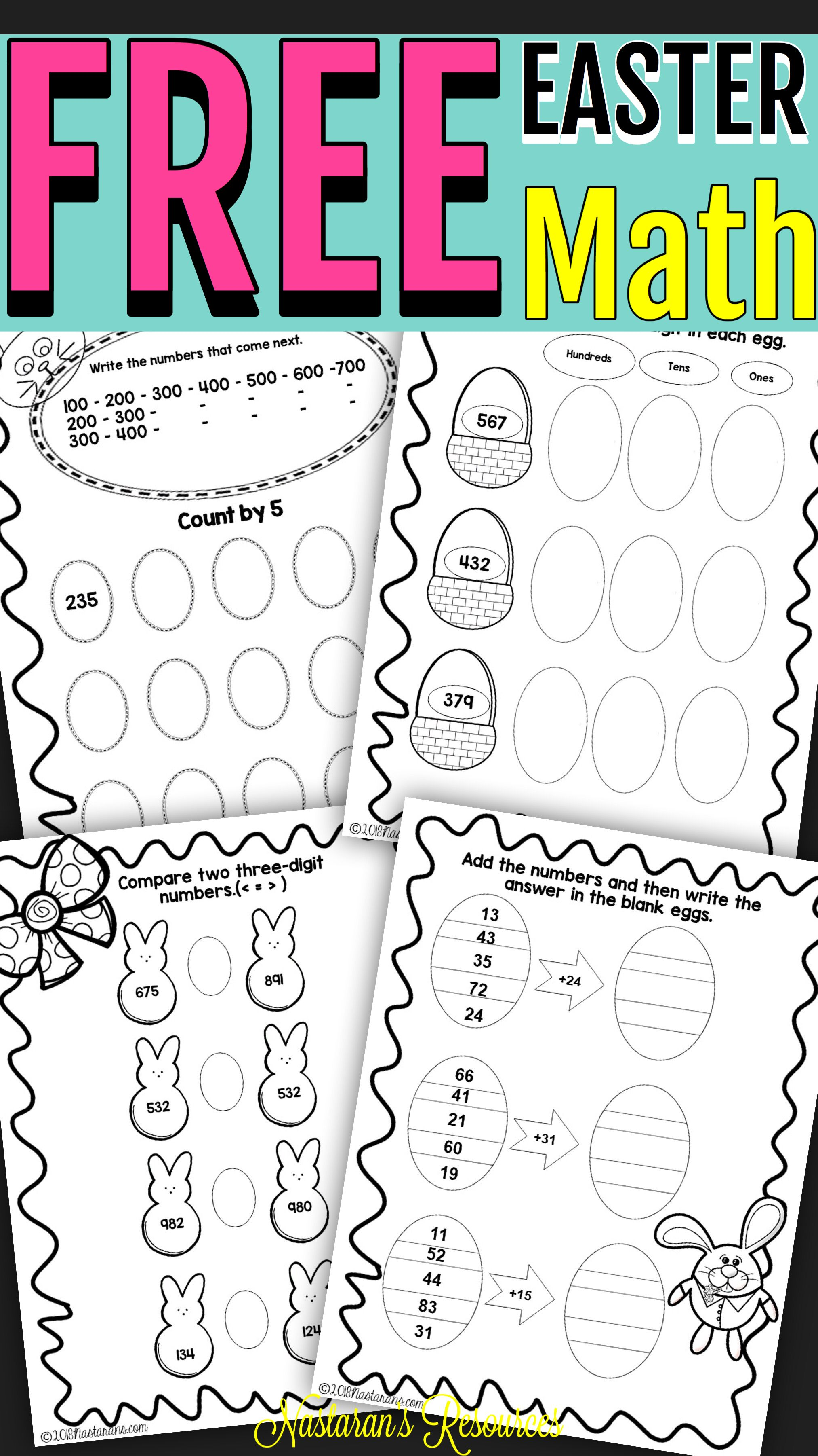 Free Easter Math Worksheets