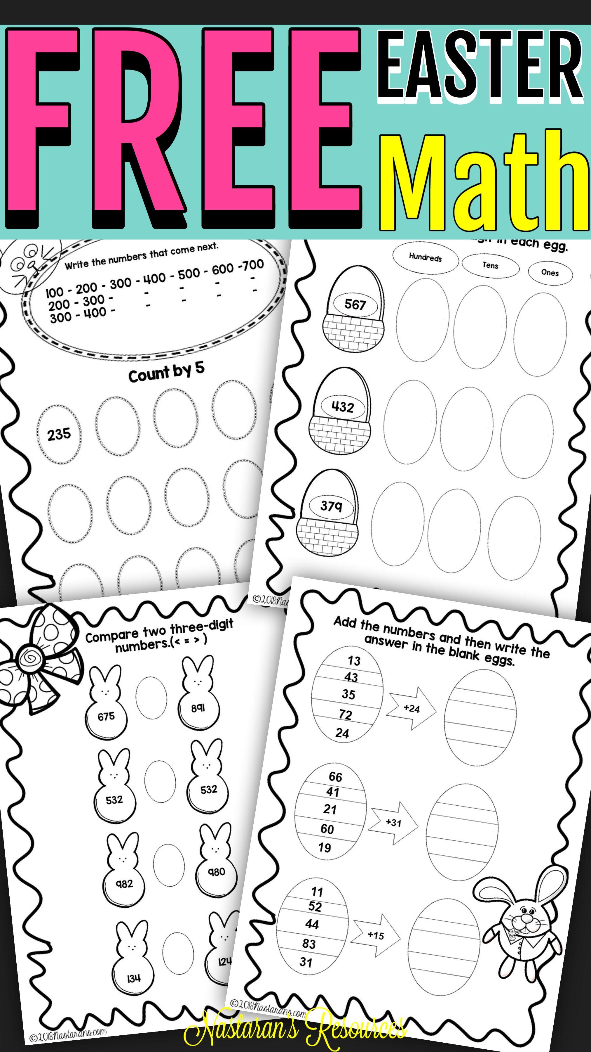 Free Easter Math Worksheets