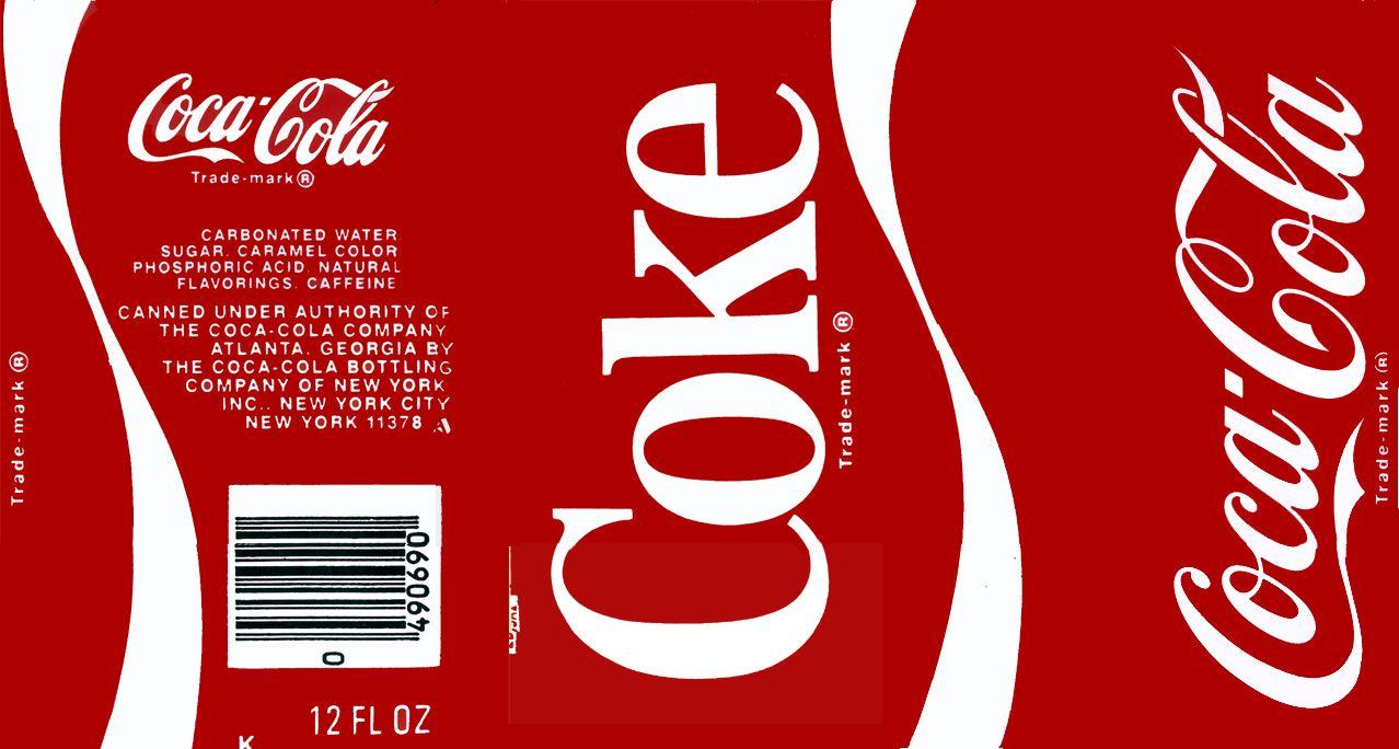 It is a picture of Insane Diet Coke Bottle Label