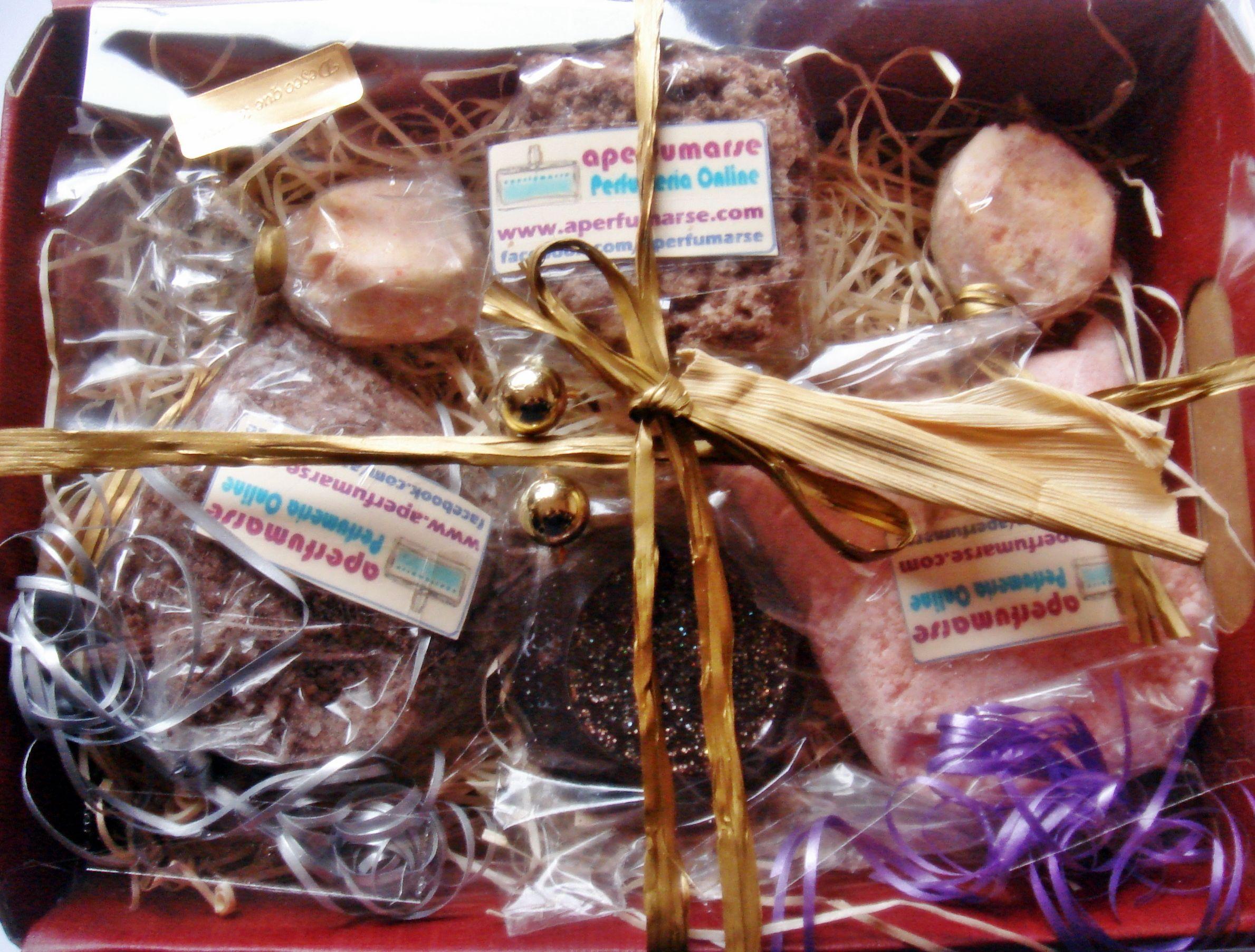 Cesta artesana spa aroma de chocolate y rosas