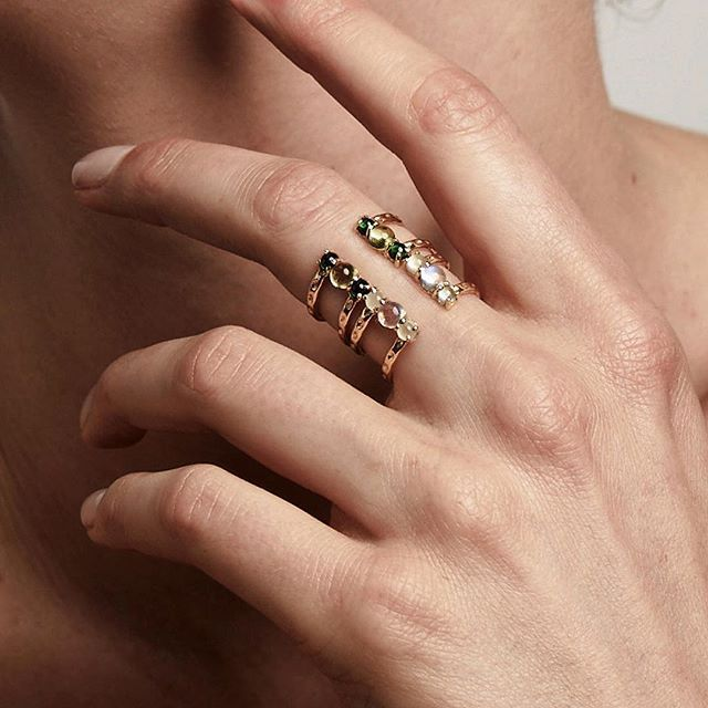 aa0ac7ca0c6c9 Stacking two of our Orbit Split Rings. #showmeyourrings #ringstack ...