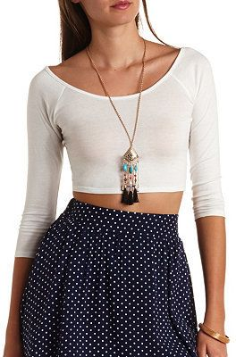 9e86d4871db Charlotte Russe Cross-Back Knit Crop Top on shopstyle.com ...