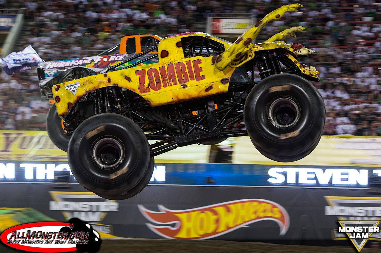 Yellow Zombie Hurricane Force Monster Trucks Monster Jam Truck Pulls