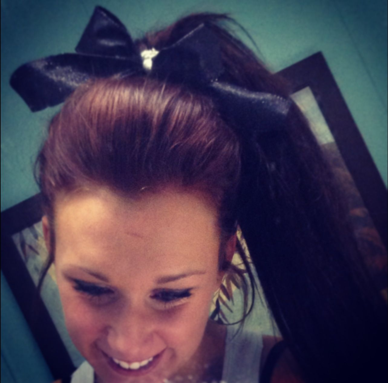 My cheer hair cheeeerr pinterest cheer hair cheer and