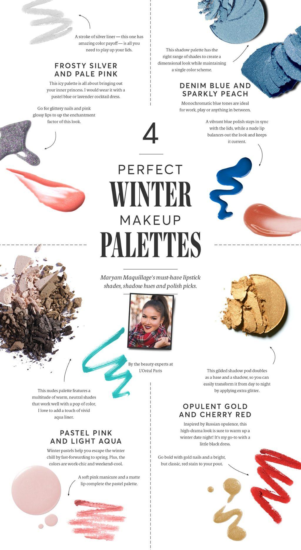 4 perfect winter makeup palettes Winter makeup, Makeup