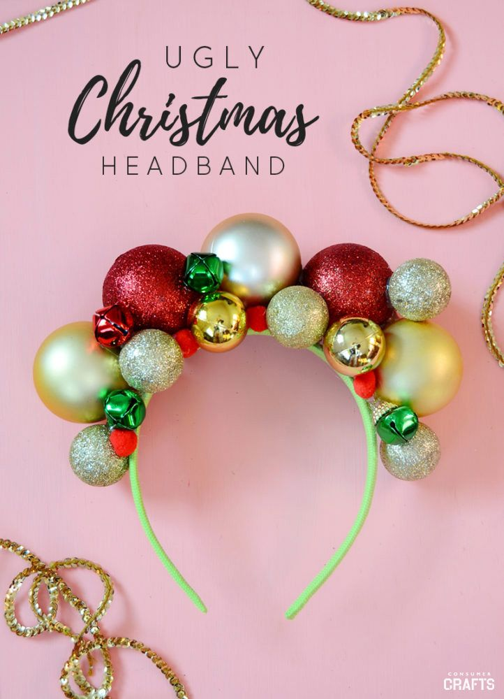 DIY Christmas Headband: Ugly Sweater Accessory - Consumer Crafts