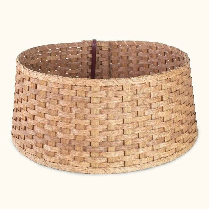 Christmas Tree Collar Decorative Ring - Amish Woven Wicker - Matching (With images) | Tree ...