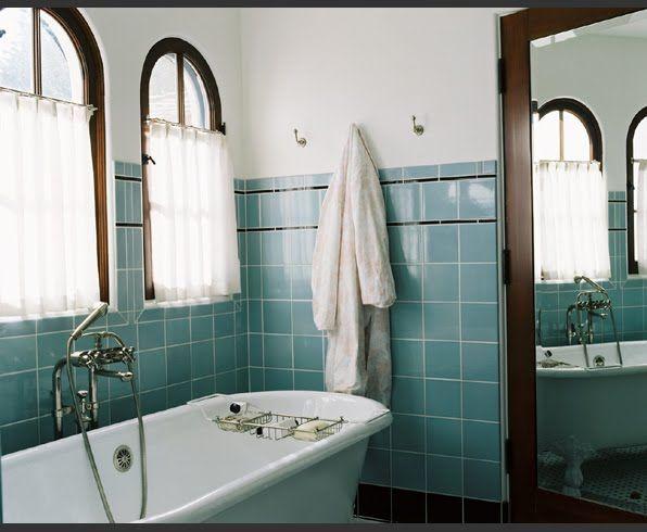 Bathroom Tiles Los Angeles bath week: reviving retro style in a modern bathroom   dark wood
