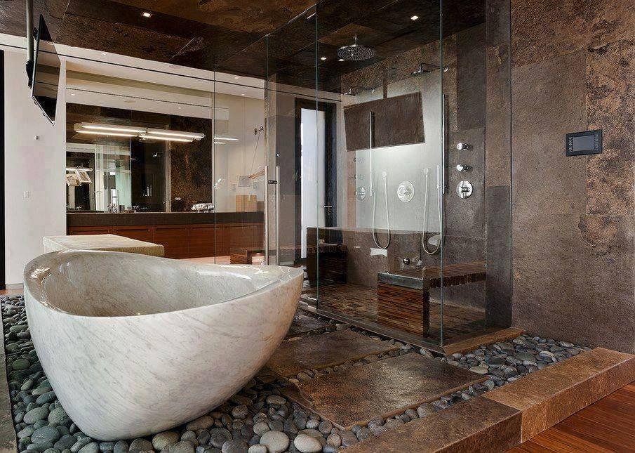Amazing bathroom décoration d\'intérieur salle de bain baignoire ...