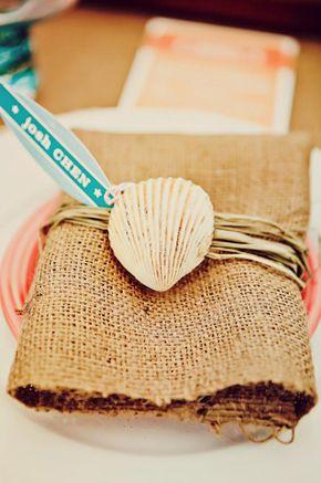 shell napkin treatment, so smart! photo by tinywater.com
