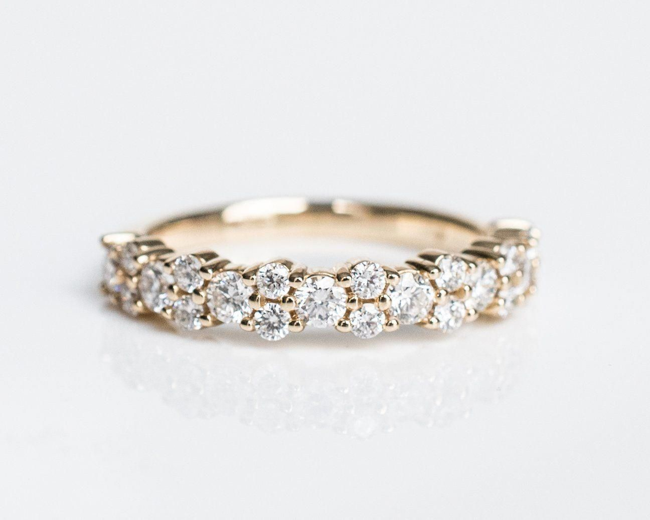 A Part That Is Sure To Captivate It S Target Audience The Diamonds Garland Engagement Ring In 2020 Diamond Wedding Bands Gold Diamond Wedding Band Wedding Ring Bands