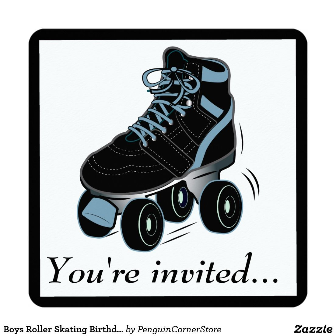 Boys Roller Skating Birthday Party Invitation   Our Recently Sold ...