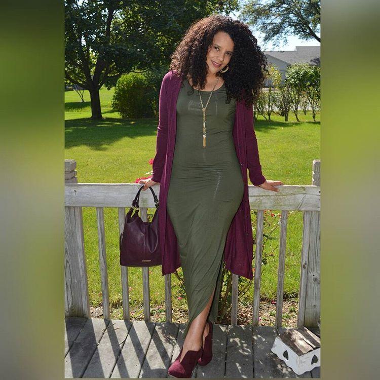 """""""Olive Green Maxi styled 3 ways on blog#ootd #maxidress #apt9 #kohls #yes2youfashionista #jlo #fallseason #fallfashion #mystyle #therealoutfit…"""""""