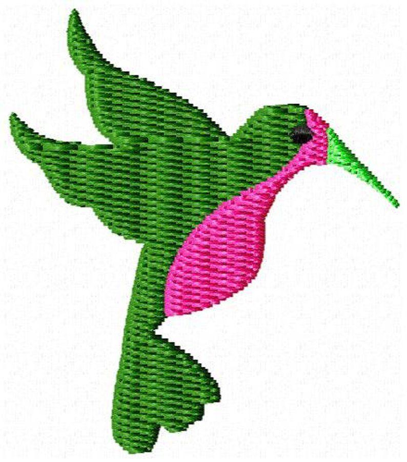 Hummingbird Mini Machine Embroidery Design Machine