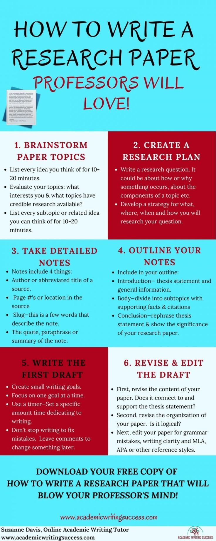 How To Write A Research Paper Step By Step Academic Writing College Writing Paper Writing Service