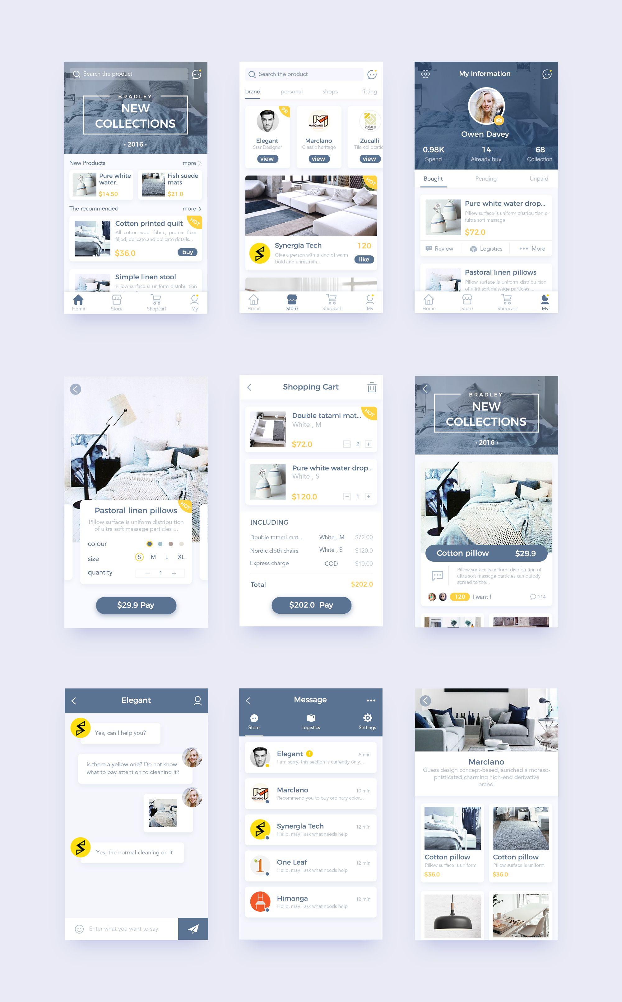 Natural home 9 mobile ui inspiration app ui design - Design my home app ...